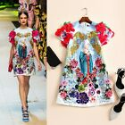 Women's Baroque Aulic Style Dress Scoop Neck Embroidery Sequins A-line Quality