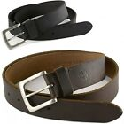 Timberland Mens Genuine Leather Belt Metal Buckle Classic Casual Sizes 32-42 New