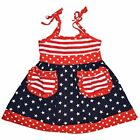 Toddler Baby Kids Girls Dress Tank Top Fourth of July Outfit Set Clothes US Flag