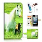 iPhone SE Wallet Case Cover AJ20202 White Horse