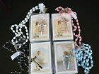 Black, Blue, Pink or White First 1st Holy Communion Rosary Gift - Boy & Girl