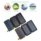300000mAh USB Solar Power Bank External Battery Charger Solar Panel Fr Phone UK