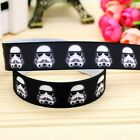 "DARTH VADER STAR WARS grosgrain ribbon 7/8""  22mm cake / craft Free P £2.49 GBP"