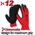 12 Pairs Of High Quality Scaffolding Latex Coated Work Gloves Maximum Grip