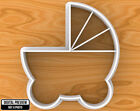 Baby Shower Pram Buggy Cookie Cutter, Selectable sizes