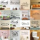 Quote Mural Words Art Vinyl Wall Sticker Home Kitchen Room Decal Decor Removable