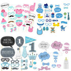 1Set Baby Shower Photo Booth Props First Birthday Party Photography Boy Girl