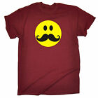 Smiling Moustache MENS T SHIRT birthday beard facial hair dad father funny gift