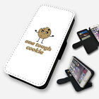 ONE TOUGH COOKIE FUNNY FLIP PHONE CASE COVER WALLET FAUX LEATHER