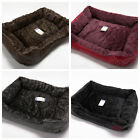 Soft Comfy Wrax Leather Washable Pet Dog/Cat Bed Basket ( warm ) Cosy Fleece