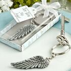 Angel wing key chain favors - Baptism Christening / FC-8369