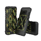 A-King Camo Outdoor Stainless Steel Flip Cover Metalic Case for Galaxy S8 / Plus