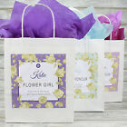 Personalised Wedding Favour Party Gift Bag | Coloured Tissue Paper | Gold Rose