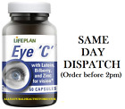 Lifeplan Eye C with Lutein, Bilberry & Zinc 60 Caps For Vision Buy 4 at £40.00..