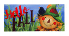 Evergreen Hello Fall Scarecrow Decorative Mat Insert, 10 x 22 inches