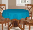 Lushome Solid Cotton Tablecloth Hole-Stitch Round Table Linen Cover Choose Size