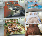 NEW 3D Wild Animals DUVET SETS Cover with Pillow Cases