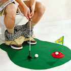 Mini Potty Putter Toilet Time Golf Adult Game Mat Funny Novelty Gag Gift New Toy