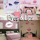 Eyes & Lips Wall Sticker! Girls Home Transfer Graphics  Decal Decor Stencil Art