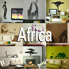 Africa Wall Sticker Home Vinyl Transfer African Graphic Art Decal Decor Stencil