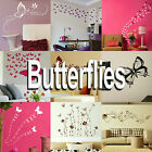 Butterfly Wall Stickers! Home Transfer Butterflies Graphic Decal Decor Stencil