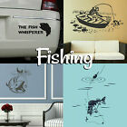 Fishing Wall Stickers Boys Home Transfers Graphic  Fisherman Decal Decor Stencil
