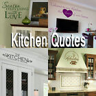 Kitchen Quote Wall Stickers! Transfer Graphic Decal Decor Stencils Dining Room