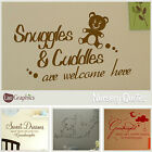 Nursery Quote Wall Sticker! Home Transfer Graphic Kids Decal Decor Stencils Art