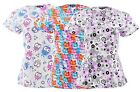 Women's Nursing Scrub Tops Printed Medical Uniforms Plus Sizes S M L XL 2X 3X 4X