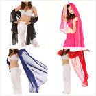 BellyLady Womens Stunning Handmade Chiffon Belly Dance Dacing Veil For Practice