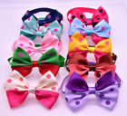 New Cute Pet Puppy Dog Bowtie Mix Color Polka Dots Beauty Bow Tie Necktie Collar