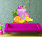 Fruit Cocktail Smoothies Kitchen Full Color Wall Decal Sticker KR-167 FRST