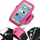 Sports Gym Armband Cover Jogging Cycle Running Arm Holder Case Cell Phone PINK