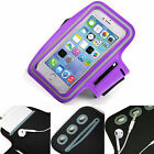 Sports Gym Armband Cover Jogging Cycle Running Arm Holder Case Cell Phone PURPLE