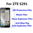 3pcs For ZTE S291 High Clear/Matte/Anti Blue Ray Screen Protector