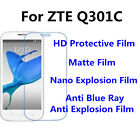 3pcs For ZTE Q301C High Clear/Matte/Anti Blue Ray Screen Protector