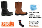 Scruffs Gravity RIGGER Safety Boots STEEL TOE CAP S1P SRA Black Or Brown