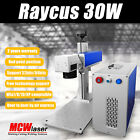 30W Raycus Fiber Laser Marking Machine & Rotary Engraving Steel Metal CE/FDA