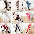 Summer Women High Waist Thin Faux Leather Trousers Skinny Leggings Pencil Pants