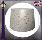 "CREAM COLOURED DRUM LAMP SHADE - 10"" / 12"" EMBOSSED FLORAL DESIGN GREAT QUALITY"
