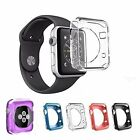 For Apple Watch iWatch 38mm 42mm CLEAR Soft TPU Rubber Protector Case Cover wi1b