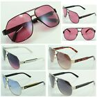 New Khan Women's Designer Fashion Sunglasses Shades Metal Pilot Retro 1023