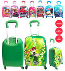 """New Character Design Boys & Girls 16"""" Trolley Suitcase backpack Luggage 4 Wheels"""