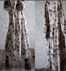 Womens Floral Pattern Loose Long Sleeve Ethnic Loose Plus Size Casual Dress
