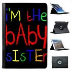 I'm The Baby Sister Folio Leather Case For iPad Mini & Retina