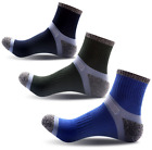 reinforced toe boots - 1-3 Pairs Mens Ultimate Work Boot Socks Cushion Sole Reinforced Toe Size 6-11-14