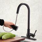 Oil Rubbed Bronze Black Kitchen Sink Faucet Pull Down Out Spray Mixer Tap