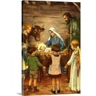 Premium Thick-Wrap Canvas Wall Art entitled Nativity Scene