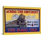 Solid-Faced Canvas Print Wall Art entitled Wells Fargo Express, 1915