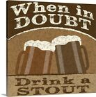 Drink Doubts Canvas Wall Art Print, Beer Home Decor